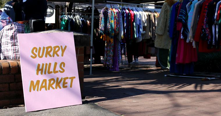 シドニーのヴィンテージ・マーケット SURRY HILLS MARKET(サリーヒルズ・マーケット)   SURRY HILLS