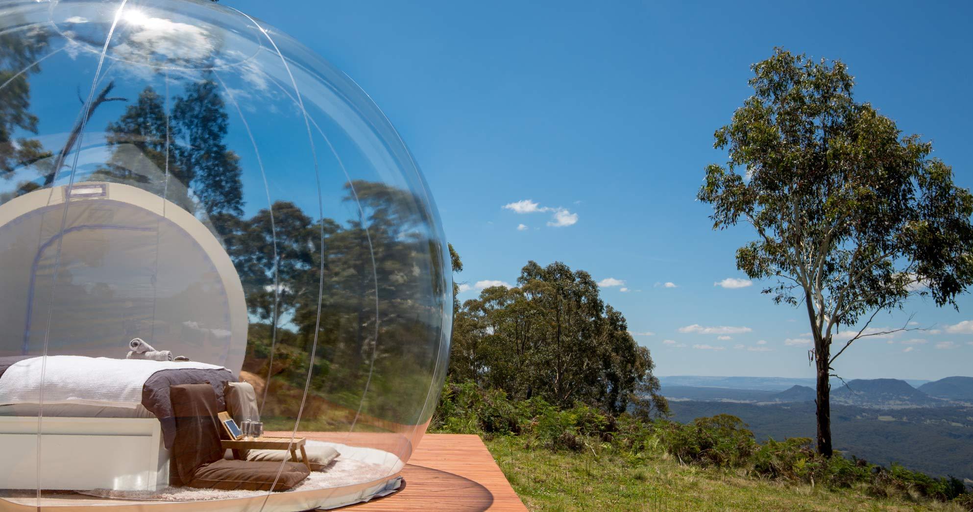オーストラリアの大自然でグランピング BUBBLETENT AUSTRALIA(バブルテント・オーストラリア)| CAPERTEE VALLEY