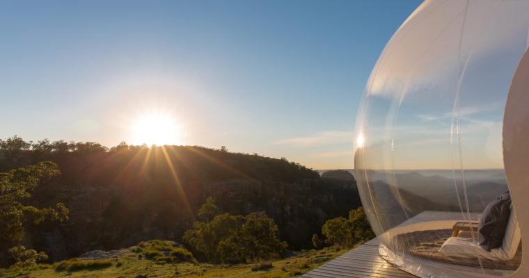 オーストラリアの大自然でグランピング BUBBLETENT AUSTRALIA(バブルテント・オーストラリア)| CAPERTEE VALLEY(カペティ・バレー)