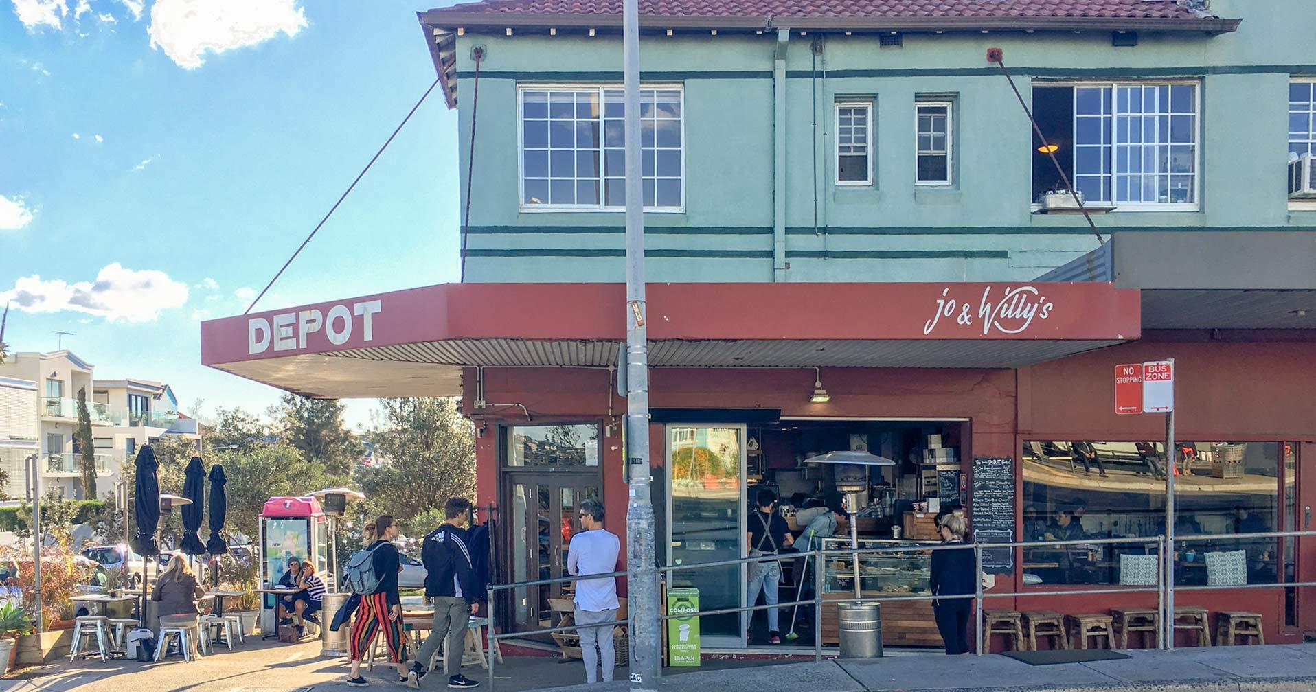 ノース・ボンダイのランドマーク的カフェ THE DEPOT(ザ・デポ)  NORTH BONDI
