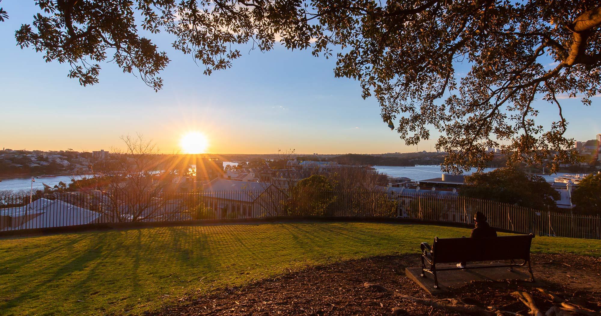 美しい夕日の絶景 OBSERVATORY HILL PARK(オブザーバトリー・ヒル・パーク)| WALSH BAY