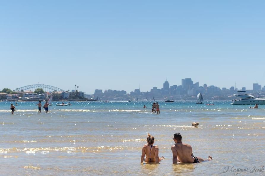 rose bay beach / シドニーのローズ・ベイ・ビーチ